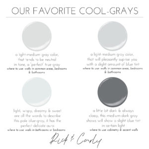 Our Favorite Cool-Grays