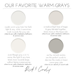 Our Favorite Warm-Grays