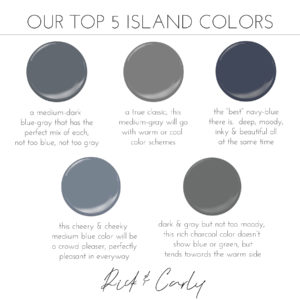 Our Top 5 Island Colors